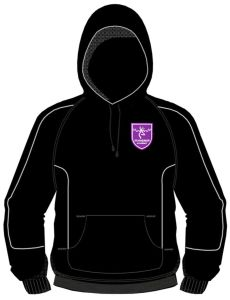 Boys & Girls PE Hoody Black/White (Optional) - Embroidered with Staindrop Academy Logo