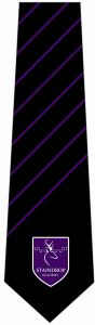 Years 7,8,9 & 10 Only - Staindrop Academy Tie - Black/Purple Stripe