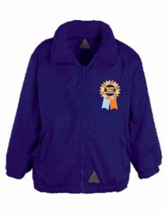 Purple Mistral Jacket/Fleece Embroidered with the Seaton Sluice First School Logo