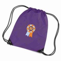 Purple Shoe Bag with Seaton Sluice First School Logo