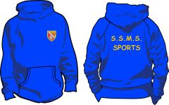 Royal PE Hoodie - Embroidered with Seaton Sluice Middle School logo