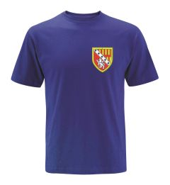 Royal T-Shirt (PE) embroidered with the Seaton Sluice Middle School Logo