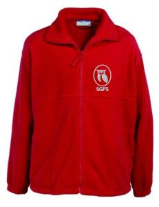Red Fleece - Embroidered With South Gosforth First School Logo