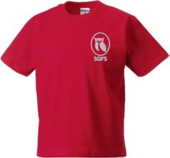 PE T-Shirt (Crew Neck) - Embroidered With South Gosforth First School Logo