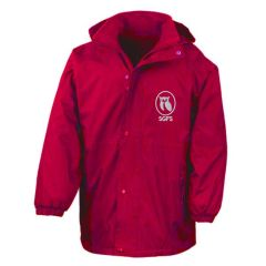 Red Stormproof Coat - Embroidered With South Gosforth First School Logo