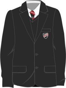 Boys Black Contemporary Blazer (ABB) - Embroidered with Shotton Hall Academy Logo