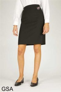 Alternative Black Back Vent Skirt (Salisbury) - Embroidered with Shotton Hall Academy Logo * Special Price *