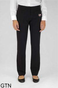 Black Senior Girls Twin Pocket Trouser (GTN) - Embroidered with Shotton Hall Academy Logo