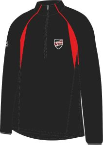 Black/Scarlet Girls Fit Mid-Layer (MLG) - Embroidered with Shotton Hall Academy Logo