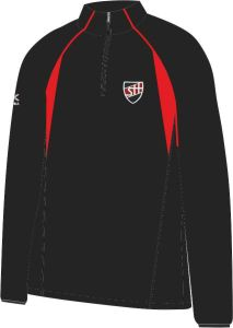 Black/Scarlet Mid-Layer (MLS) - Embroidered with Shotton Hall Academy Logo