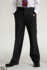 Boys Black Junior Slim Leg Trouser (SLT) - Embroidered with Shotton Hall Academy Logo