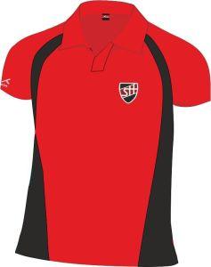 Girls PE Scarlet/Black Akoa Polo Top - Embroidered with Shotton Hall Academy Logo