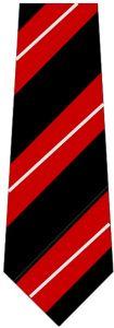 "Black/Red/Silver Clip-on School Tie (KS4) 19"""