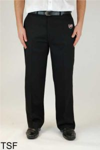 Boys Black Sturdy Fit Trouser (TSF) - Embroidered with Shotton Hall Academy Logo
