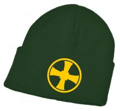 Green Knitted Ski Hat - Embroidered with Durham High School Logo