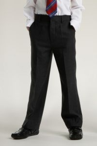 Black Juniors Boys Slim Leg Trouser (SLT/SFJ)