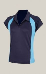 Girls Navy/Cyclone Akoa Polo Top - for St Thomas More Catholic High School (Blaydon)