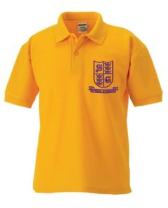 Gold Polo - Embroidered With Spring Gardens Primary School Logo