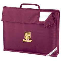 Burgundy Bookbag - Embroidered With Spring Gardens Primary School Logo