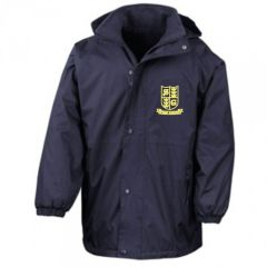 Burgundy Stormproof Coat - Embroidered With Spring Gardens Pimary School Logo