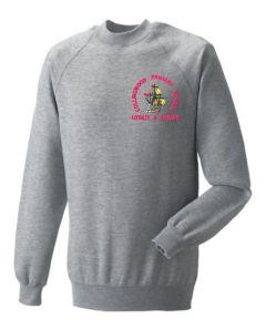Oxford Grey Crewneck Sweatshirt - Embroidered with Collingwood Primary School Logo
