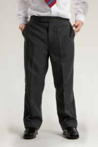 Charcoal Grey Boys Junior Trousers (CFJ)