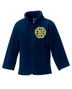 Navy Fleece - Embroidered with St Bartholomew's C of E Primary School Logo