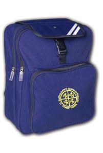 Navy Junior Back Pack - Embroidered With St Bartholomew's C of E Primary School Logo