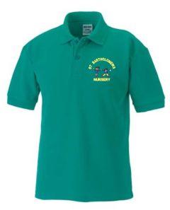 *Nursery* Emerald Polo - Embroidered with St Bartholomew's Nursery School logo