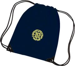 Navy PE Bag - Embroidered with St Bartholomew's C of E Primary School Logo