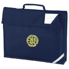 Navy Book Bag - Embroidered with St Bartholomew's C of E Primary School Logo