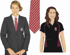 Girls Package Deal - Black Blazer, Tie & Girls PE Polo - Embroidered with St Bede's Catholic School Logo
