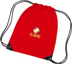 Red PE Bag - Embroidered with St Bede's Catholic Primary School logo