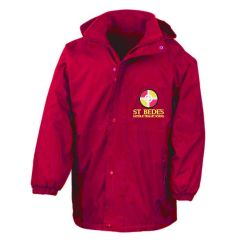 Red Result Stormproof Coat - Embroidered with St Bede's Catholic Primary School logo