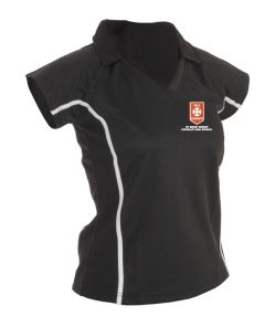Girls PE Polo Top - Embroidered with St Benet Biscop Catholic High School Logo