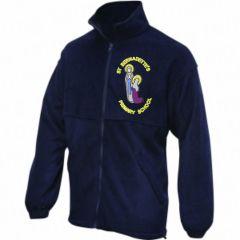 Navy Fleece - With St Bernadettes RC PS Logo