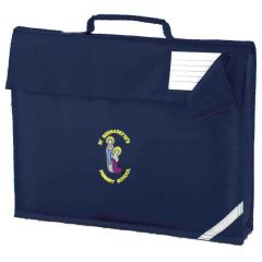 Navy Bookbag - Embroidered with St Bernadettes School logo