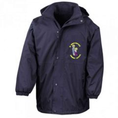 Navy Stormproof Coat - Embroidered With St Bernadettes RC Primary School Logo