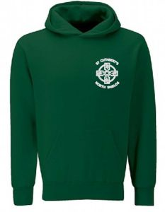 Bottle Green Hoodie - With St Cuthberts (N/Shields) Logo