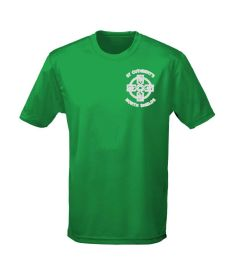 Green PE T-Shirt - With St Cuthberts RC PS (N/Shields) Logo