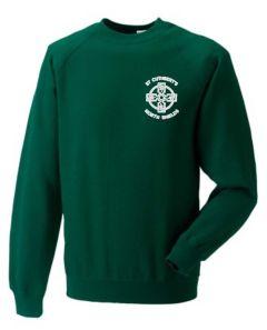 *NURSERY* Bottle Green Sweatshirt - With St Cuthberts NURSERY (N/Shields) Logo