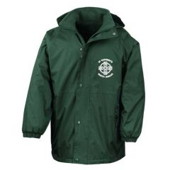 Bottle Green Storm Proof Winter Coat - With St Cuthberts (N/Shields) Logo