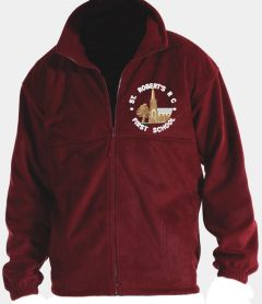 *SALE* Burgundy Fleece - Embroidered With St Roberts RC First School Logo (While stocks last)