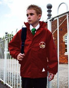 *SALE* Burgundy Stormproof Coat - Embroidered With St Roberts RC First School Logo (While stocks last)