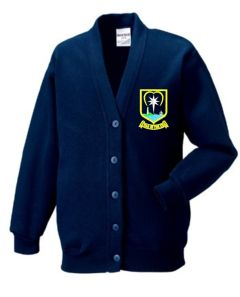 Navy Cardigan - Embroidered With Star of the Sea School Logo