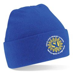 Royal Knitted Beannie Hat - Embroidered with Stead Lane Primary School Logo