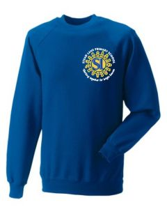 Royal Sweatshirt with Embroidered Stead Lane Primary School Logo