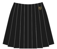 Black Skirt (Stitch Down Pleat) - Embroidered with Park View School Logo