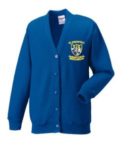 Royal Sweat Cardigan - Embroidered with St Joseph's RC Primary School (North Shields) logo