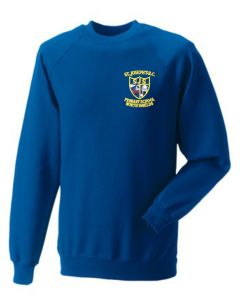 Royal Sweatshirt - Embroidered with St Joseph's RC Primary School (North Shields) logo